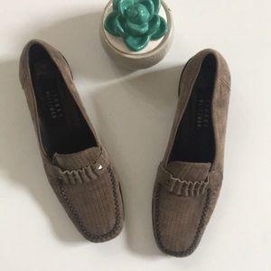 Stuart Weitzman | leather heel loafer